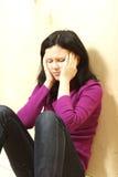 καταθλιπτικός έφηβος στοκ φωτογραφία