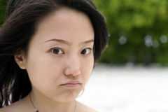 καταθλιπτικό πρόσωπο Στοκ Εικόνες