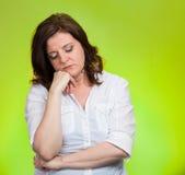Καταθλιπτική, θλιβερή γυναίκα στοκ εικόνα