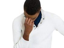 Καταθλιπτικός λυπημένος νεαρός άνδρας Στοκ εικόνα με δικαίωμα ελεύθερης χρήσης