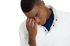 Καταθλιπτικός λυπημένος νεαρός άνδρας Στοκ Εικόνα