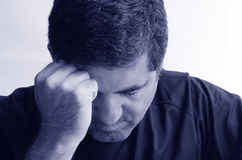 Καταθλιπτικό άτομο Στοκ Εικόνες