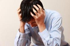 καταθλιπτικό άτομο Στοκ εικόνα με δικαίωμα ελεύθερης χρήσης