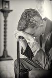 καταθλιπτικό άτομο Στοκ Φωτογραφίες