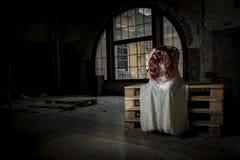 καταθλιπτικό κορίτσι Στοκ Εικόνες