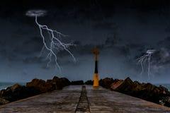 Καταιγίδα στον ωκεανό Στοκ φωτογραφίες με δικαίωμα ελεύθερης χρήσης