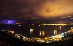 Καταιγίδα στο λιμένα του Γιβραλτάρ Στοκ Εικόνα