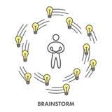 Καταιγισμός ιδεών εικονιδίων γραμμών Διανυσματικό επιχειρησιακό σύμβολο Στοκ φωτογραφία με δικαίωμα ελεύθερης χρήσης