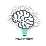 Καταιγισμός ιδεών ιδέας Διανυσματικό απόθεμα έννοιας απεικόνισης Στοκ εικόνες με δικαίωμα ελεύθερης χρήσης