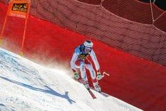 Κατακάθι Gisin στο αλπικό Παγκόσμιο Κύπελλο σκι Audi FIS - Rac των ατόμων προς τα κάτω Στοκ Εικόνα