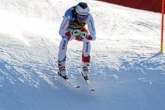 Κατακάθι Gisin στο αλπικό Παγκόσμιο Κύπελλο σκι Audi FIS - Rac των ατόμων προς τα κάτω Στοκ Εικόνες