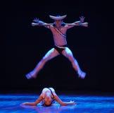 Κατακτήστε και να είστε κατακτώ-θέλημα στο λαβύρινθος-σύγχρονο χορός-χορογράφο Martha Graham στοκ εικόνες