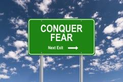 Κατακτήστε το σημάδι φόβου στοκ φωτογραφία με δικαίωμα ελεύθερης χρήσης