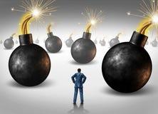 Κατακτώντας αντιπαλότητα επιχειρηματιών Στοκ εικόνες με δικαίωμα ελεύθερης χρήσης