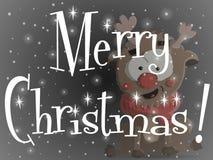 Κατακόκκινη μαύρη ευχετήρια κάρτα Χριστουγέννων απεικόνιση αποθεμάτων