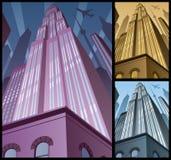 Κατακόρυφος 2 εικονικής παράστασης πόλης Στοκ εικόνες με δικαίωμα ελεύθερης χρήσης