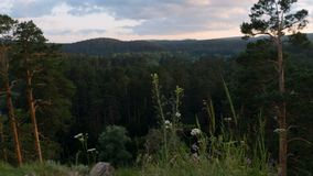 κατακόρυφος ποταμών πανοράματος βουνών 3 εικόνων hdr φιλμ μικρού μήκους