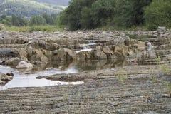 κατακόρυφος ποταμών πανοράματος βουνών 3 εικόνων hdr Στοκ Φωτογραφία
