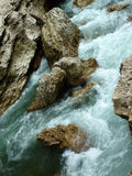 κατακόρυφος ποταμών πανοράματος βουνών 3 εικόνων hdr Στοκ Εικόνες