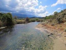 κατακόρυφος ποταμών πανοράματος βουνών 3 εικόνων hdr Στοκ εικόνα με δικαίωμα ελεύθερης χρήσης