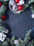 κατακόρυφος Χριστουγέννων ανασκόπησης διάστημα αντιγράφων Στοκ Εικόνες