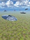 κατακόρυφος ufo επίθεσης Στοκ εικόνες με δικαίωμα ελεύθερης χρήσης