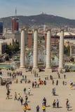 Καταλανικό εθνικό Μουσείο Τέχνης στη Βαρκελώνη, κοντά στην πλατεία της Ισπανίας 04 16 2018 Ισπανία Στοκ Εικόνες