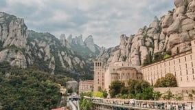 Καταλωνία, Ισπανία santa de Μαρία Μοντσερράτ Benedictine αβαείο στο βουνό του Μοντσερράτ, σε Monistrol de Μοντσερράτ, μέσα φιλμ μικρού μήκους