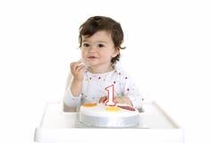 κατανάλωση κέικ μωρών Στοκ φωτογραφία με δικαίωμα ελεύθερης χρήσης