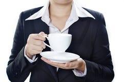 κατανάλωση καφέδων Στοκ Εικόνα