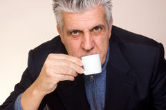κατανάλωση καφέ Στοκ εικόνες με δικαίωμα ελεύθερης χρήσης