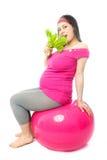 κατανάλωση της έγκυου γ&u Στοκ φωτογραφία με δικαίωμα ελεύθερης χρήσης