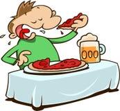 κατανάλωση της πίτσας Στοκ εικόνα με δικαίωμα ελεύθερης χρήσης