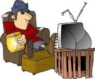 κατανάλωση της προσοχής TV  Στοκ εικόνα με δικαίωμα ελεύθερης χρήσης