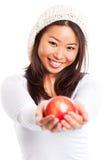 Κατανάλωση του μήλου Στοκ φωτογραφίες με δικαίωμα ελεύθερης χρήσης