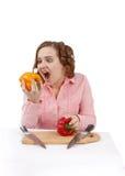 κατανάλωση του πιπεριού & Στοκ Εικόνες