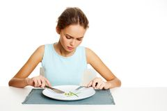 Κατανάλωση των υγιών τροφίμων Στοκ Εικόνα