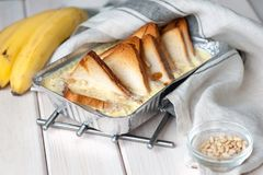 κατανάλωση υγιής Ψωμί μπανανών, μπανάνες Στοκ Φωτογραφία