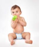 κατανάλωση αγορακιών μήλ&ome στοκ εικόνες
