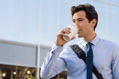 κατανάλωση καφέ επιχειρη Στοκ Φωτογραφίες