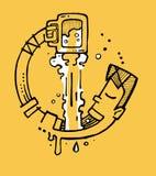 Κατανάλωση της μπύρας α Στοκ εικόνα με δικαίωμα ελεύθερης χρήσης