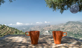 Κατανάλωση του καφέ στην Ισπανία στοκ εικόνες