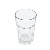 Κατανάλωση του φλυτζανιού γυαλιού πέρα από το άσπρο υπόβαθρο Στοκ εικόνες με δικαίωμα ελεύθερης χρήσης