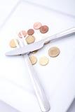 Κατανάλωση των ευρώ Στοκ εικόνα με δικαίωμα ελεύθερης χρήσης