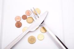 Κατανάλωση των ευρώ Στοκ φωτογραφία με δικαίωμα ελεύθερης χρήσης