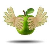 Κατανάλωση των ελαφριών υγιών τροφίμων ελεύθερη απεικόνιση δικαιώματος