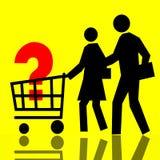 καταναλωτής καλαθιών Στοκ εικόνα με δικαίωμα ελεύθερης χρήσης