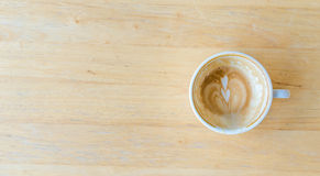 Καταναλωμένος καφές μέσα ενώ φλυτζάνι Στοκ φωτογραφία με δικαίωμα ελεύθερης χρήσης