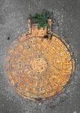 καταπακτή κίτρινη Στοκ φωτογραφίες με δικαίωμα ελεύθερης χρήσης
