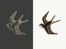 Καταπιείτε το λογότυπο πουλιών Στοκ εικόνα με δικαίωμα ελεύθερης χρήσης